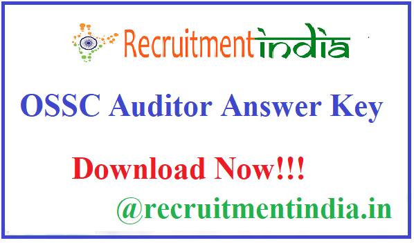 OSSC Auditor Answer Key