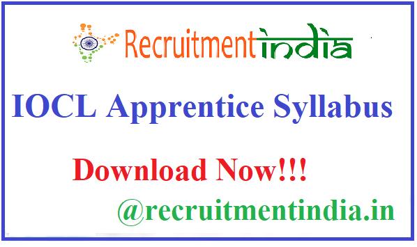 IOCL Apprentice Syllabus