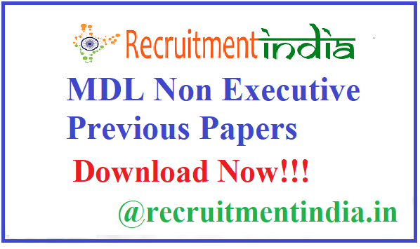 MDL Non Exewcutive Previous Papers