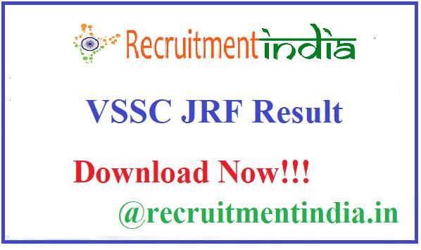 VSSC JRF Result