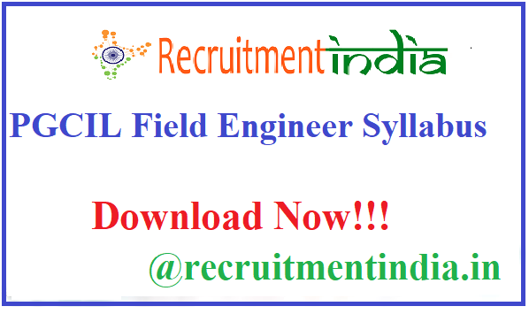 PGCIL Field Engineer Syllabus