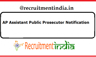 AP Assistant Public Prosecutor Notification