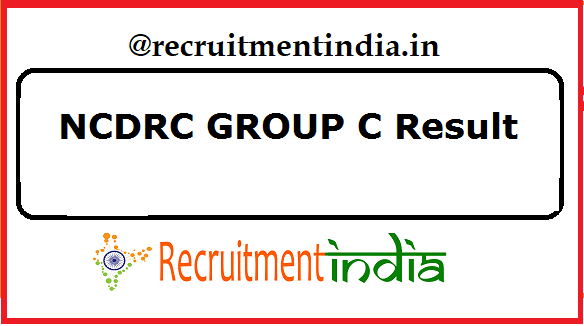NCDRC GROUP C Result