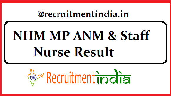 NHM MP ANM Result