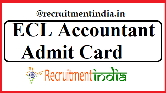 ECL Accountant Admit Card