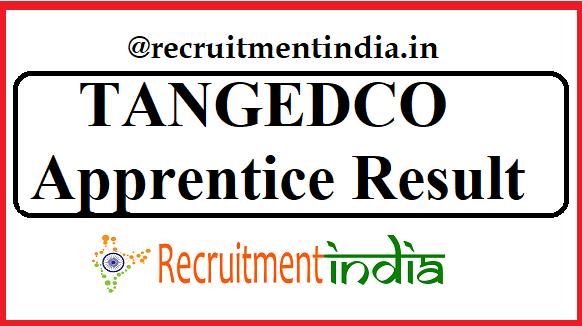 TANGEDCO Apprentice Result