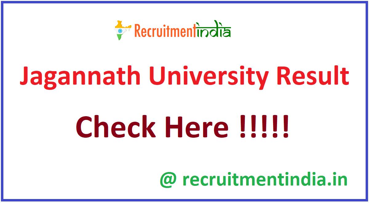 Jagannath University Result