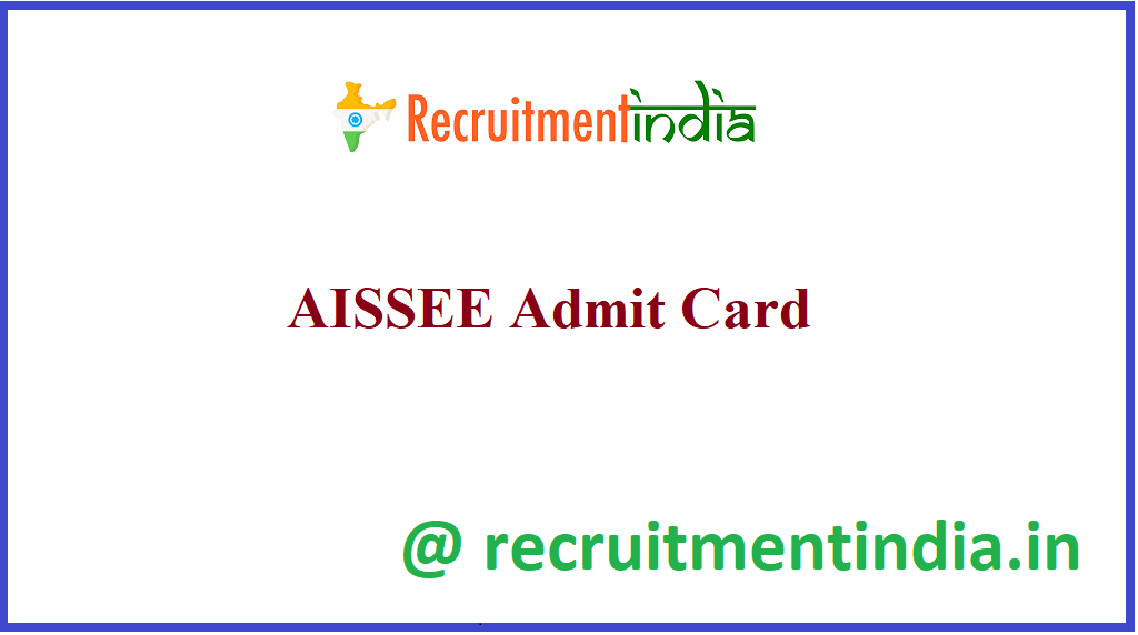 AISSEE Admit Card