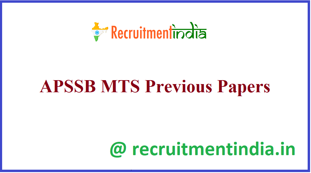 APSSB MTS Previous Papers