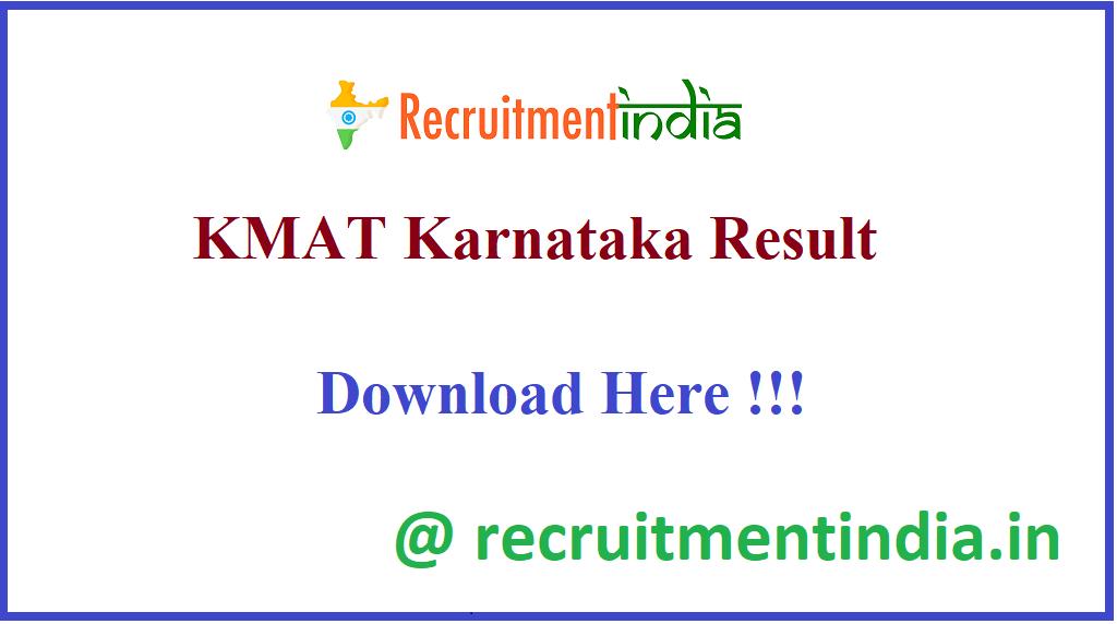 KMAT Karnataka Result