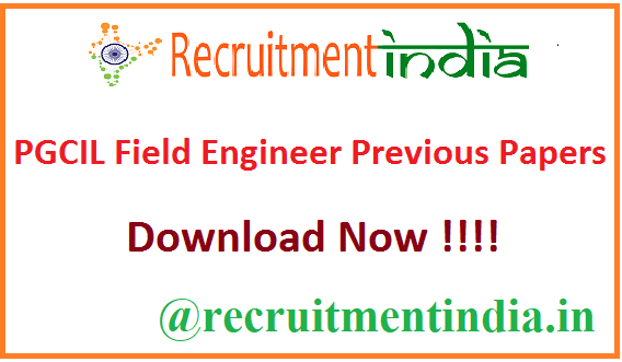 PGCIL Field Engineer Previous Papers