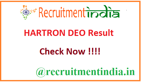 HARTRON DEO Result