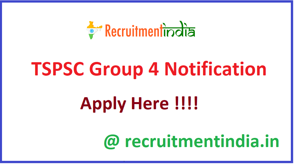 TSPSC Group 4 Notification