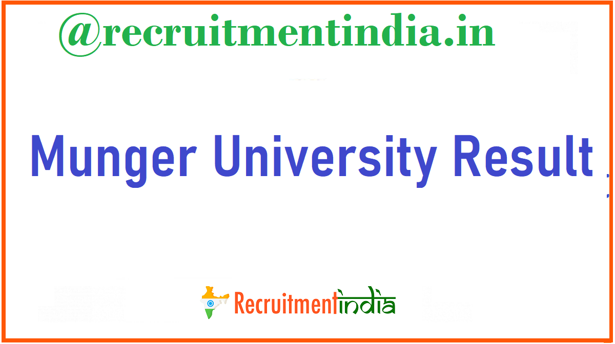 Munger University Result