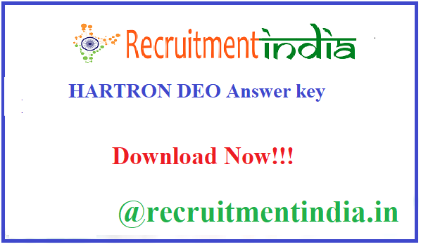 HARTRON DEO Answer key