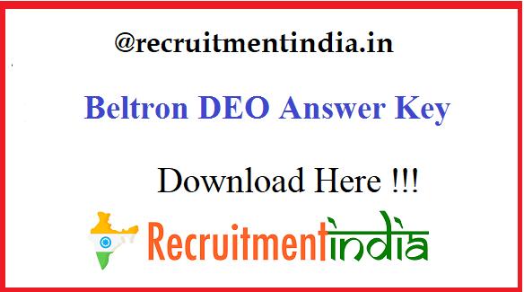 Beltron DEO Answer Key