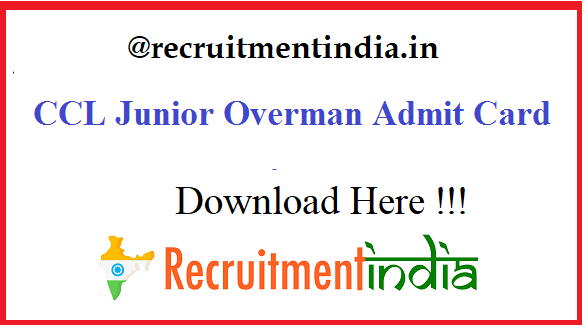 CCL Junior Overman Admit Card