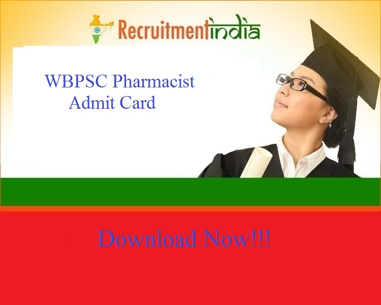 WBPSC Pharmacist Admit Card