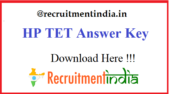 HP TET Answer Key