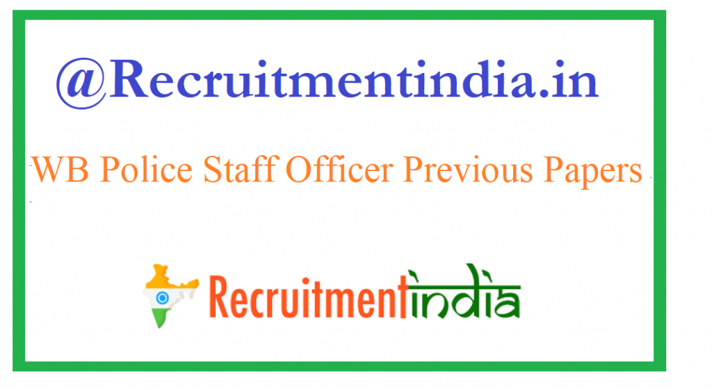 WB Police Staff Officer Previous Papers