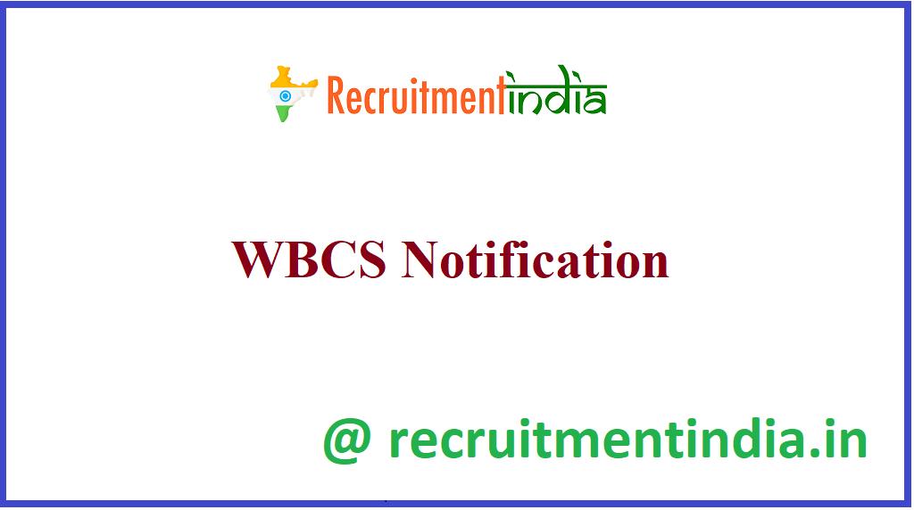 WBCS Notification