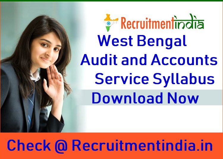 West Bengal Audit and Accounts Service Syllabus