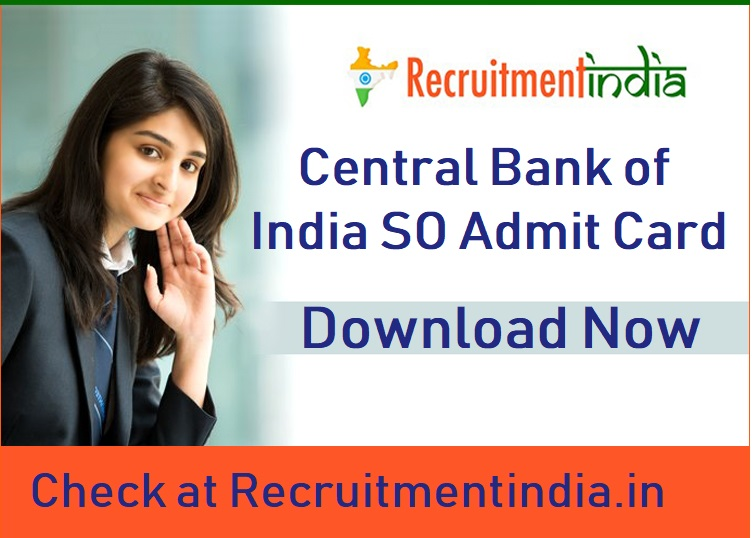 Central Bank of India SO Admit Card