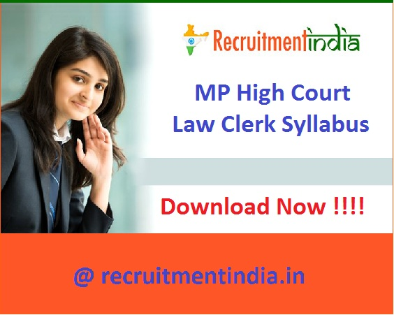 MP High Court Law Clerk Syllabus