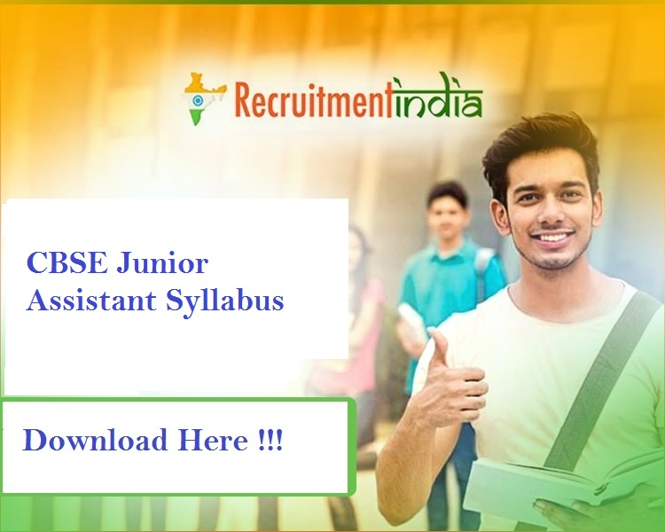 CBSE Junior Assistant Syllabus 2019