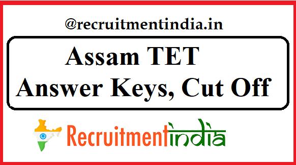 Assam TET Answer Keys
