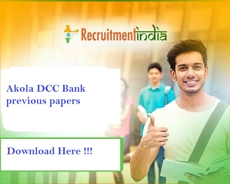 Akola DCC Bank previous papers