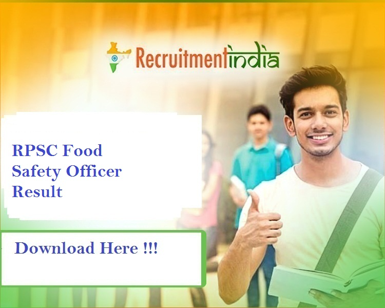 RPSC Food Safety Officer Result 2019
