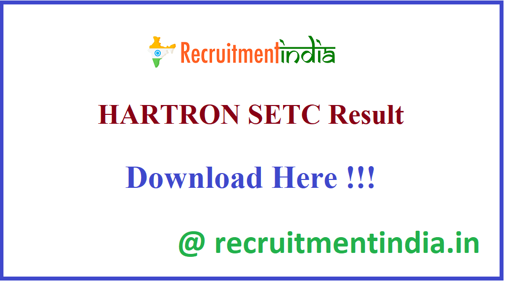 HARTRON SETC Result