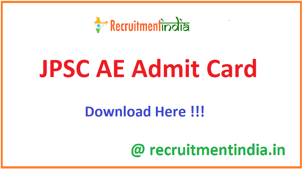 JPSC AE Admit Card