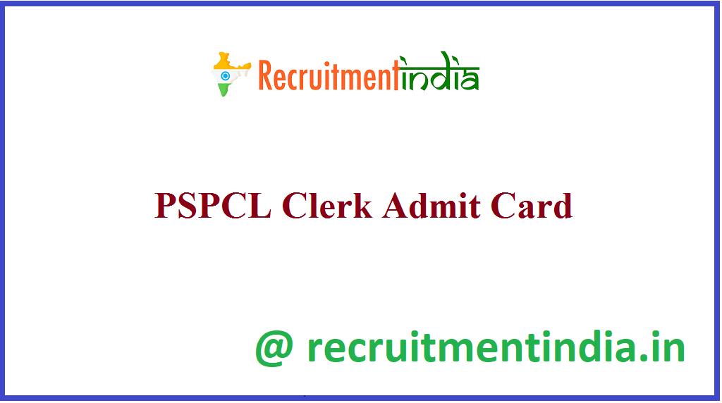 PSPCL Clerk Admit Card