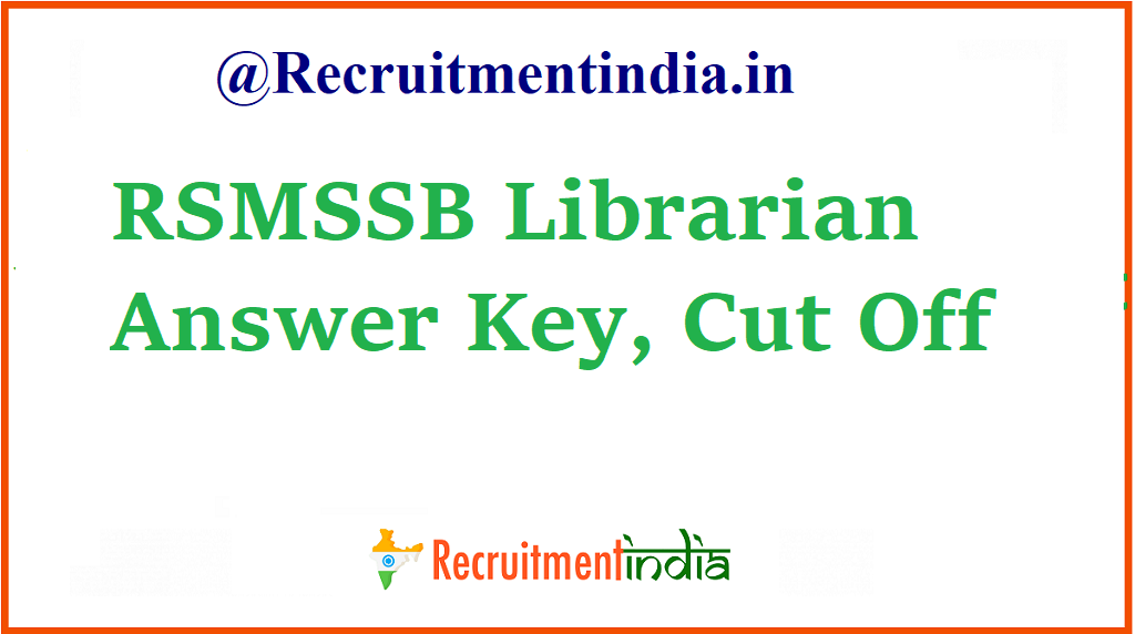 RSMSSB Librarian Answer Key