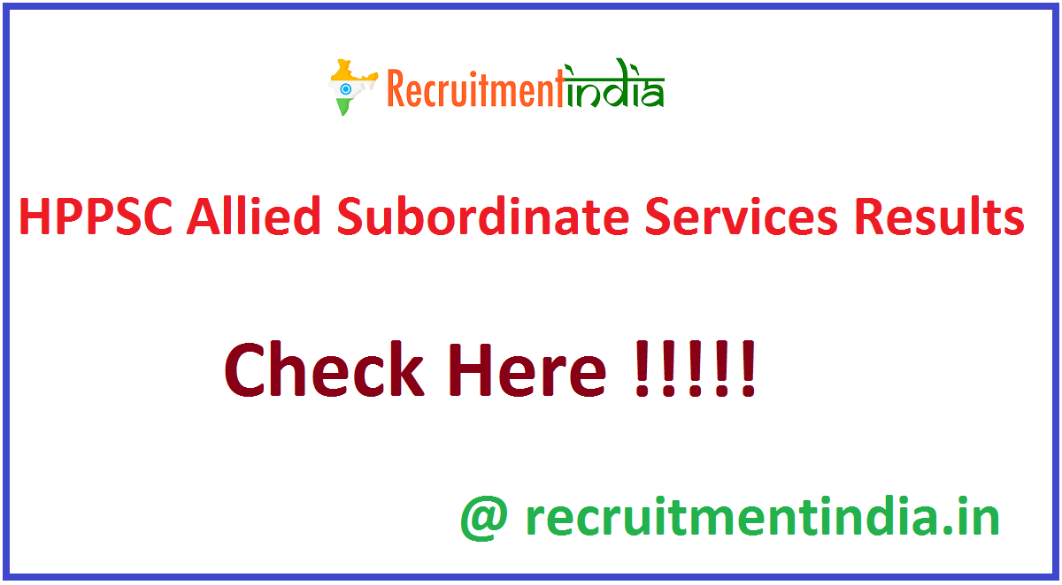 HPPSC Allied Subordinate Services Results