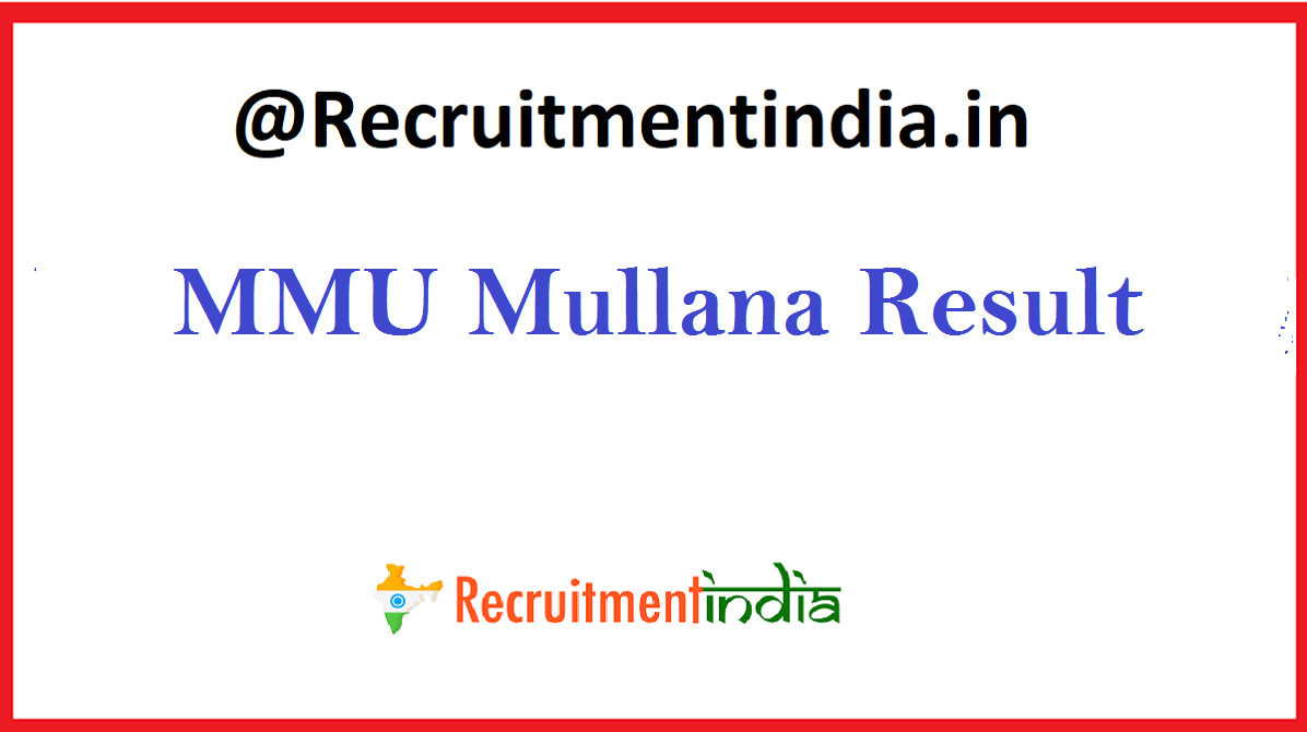 MMU Mullana Result