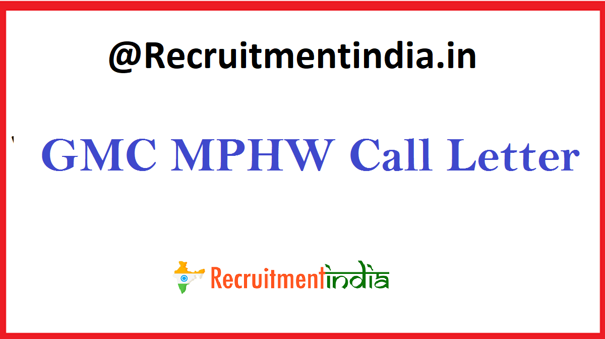 Gmc Mphw Call Letter 2020 Fhw Pharmacist Exam Date
