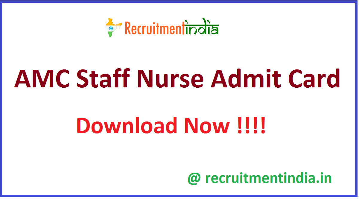 AMC Staff Nurse Admit Card