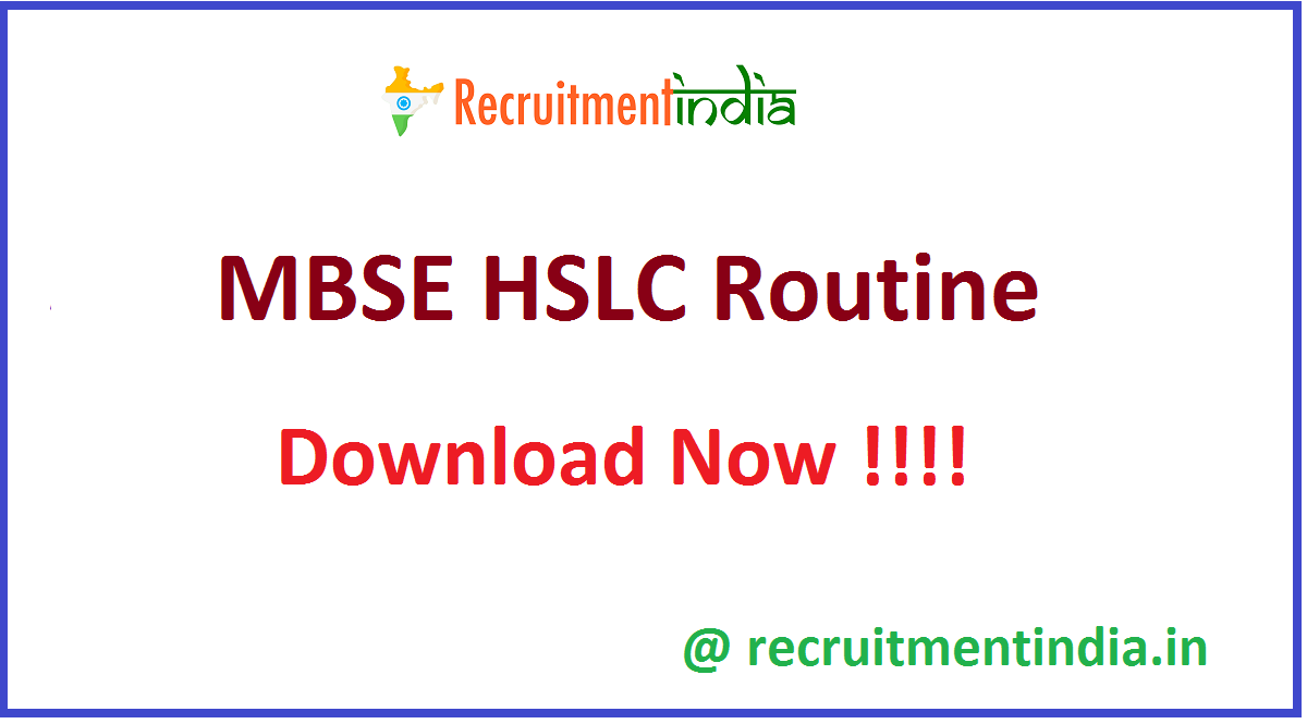 MBSE HSLC Routine