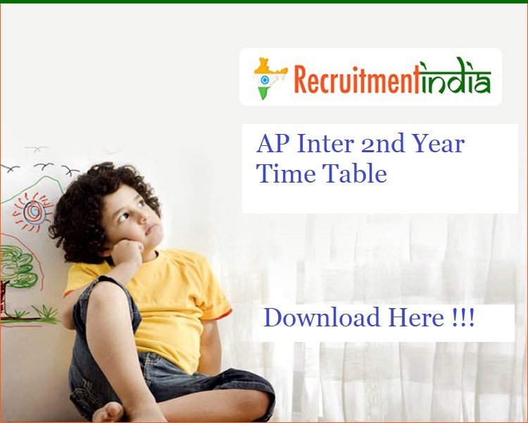 AP Inter 2nd Year Time Table 2020