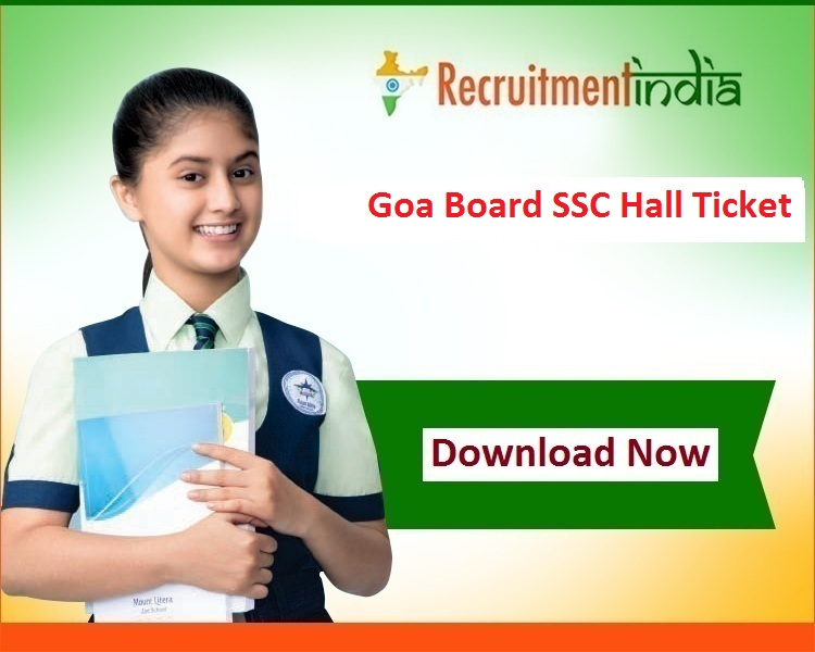 Goa Board SSC Hall Ticket