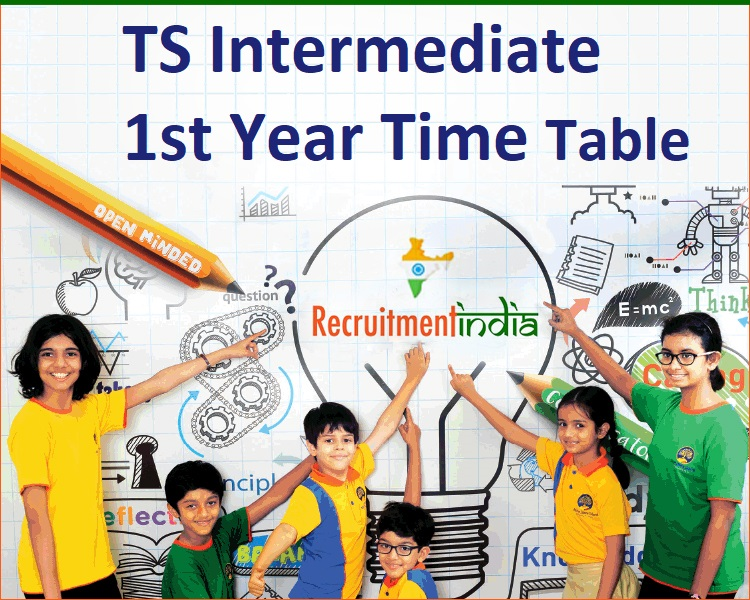 TS Intermediate 1st Year Time Table