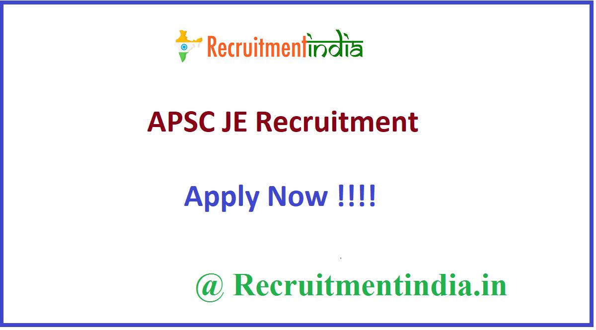 APSC JE Recruitment