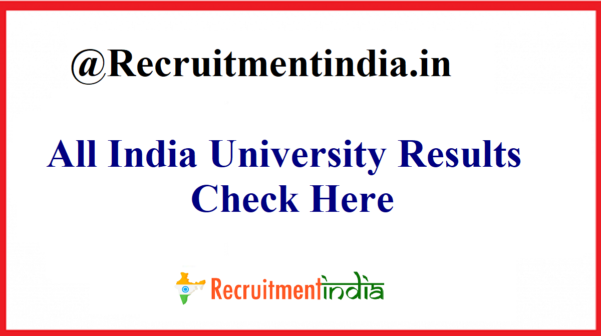 All India University Results