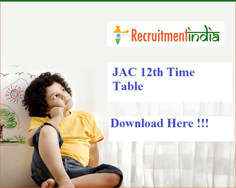 JAC 12th Time Table