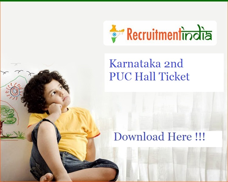 Karnataka 2nd PUC Hall Ticket 2020