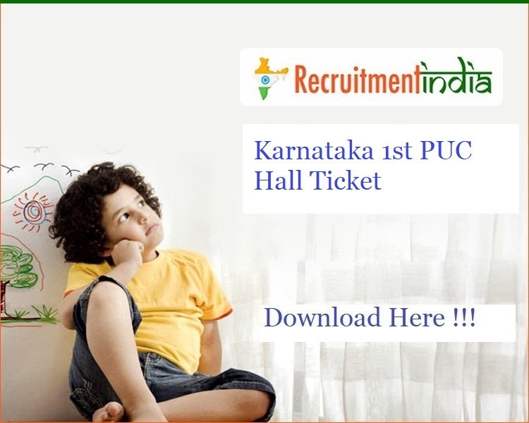 Karnataka 1st PUC Hall Ticket 2020