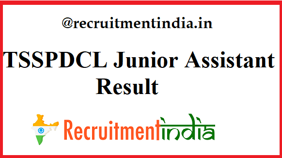 TSSPDCL Junior Assistant Result
